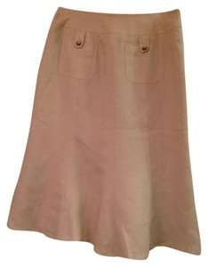 Ann Taylor Pockets Skirt Khaki