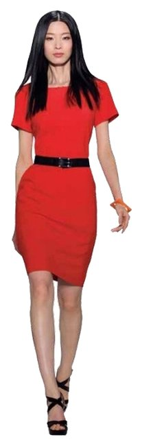 Item - Chili Pepper Red Salsa Above Knee Work/Office Dress Size 4 (S)