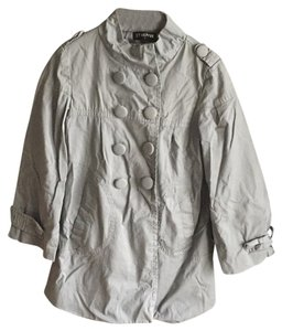 It Hippie French Trench Military Gray Jacket