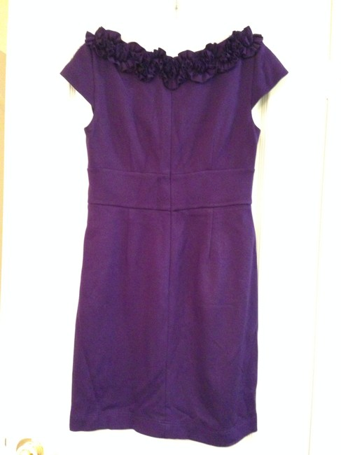 Maggy London short dress Deep Purple Flower on Tradesy