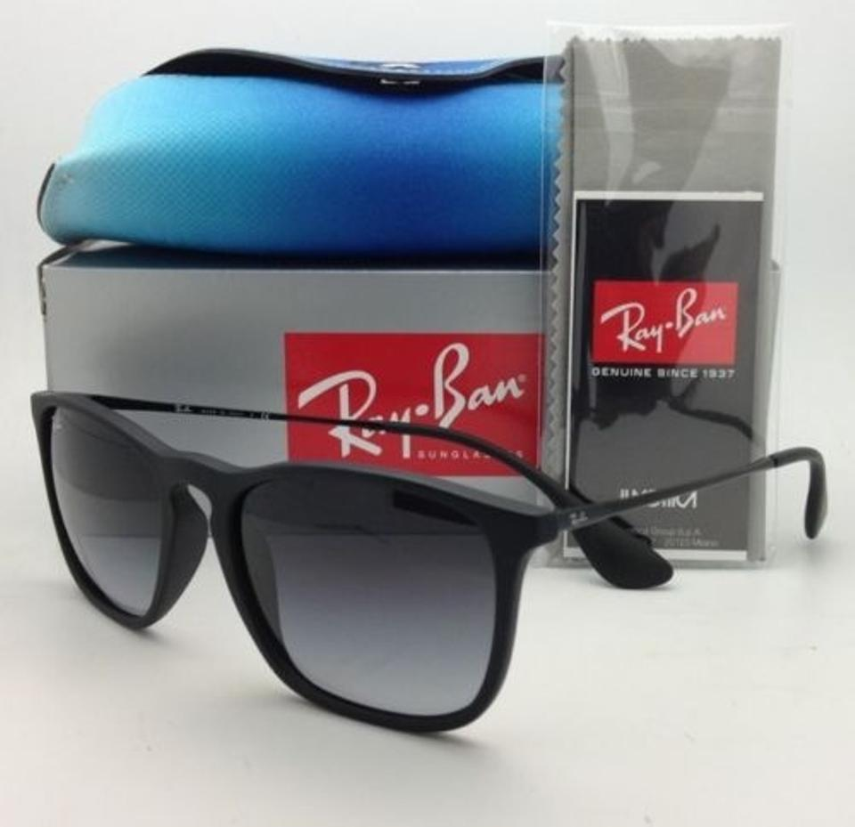 5d140439f1 Ray-Ban Rb 4187 622 8g 54-18 Rubber Black W  Grey Gradient Lenses ...