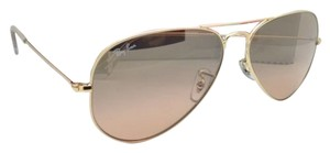 Ray-Ban New Ray-Ban Sunglasses RB 3025 Large Metal 001/3E 55-14 Gold Aviator Frame w/ Brown pink gradient Lenses