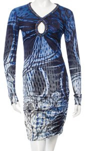 Emilio Pucci Print Monogram Longsleeve Dress
