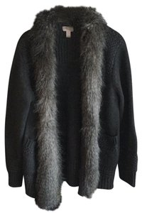 Forever 21 Faux Fur Lounge Knit Cardigan