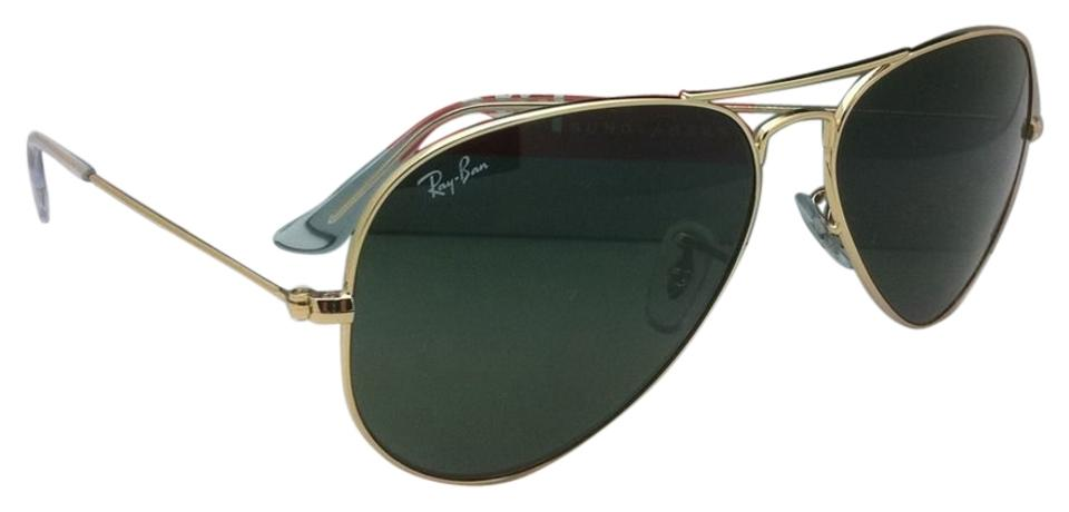 67f5ab3d2bbd9 Ray-Ban Rb 3025 L0205 58-14 Large Metal Gold Frames W G-15 Lenses ...