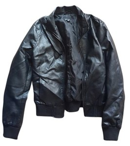 Forever 21 Bomber Bomber Leather Leather Jacket