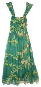 M.S.S.P. short dress Green Print Silk Chiffon Sleeveless on Tradesy