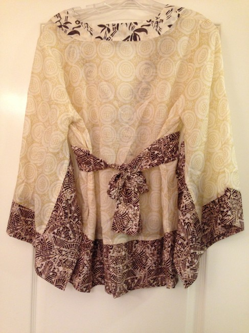 Other Bow Top Tan Patterned