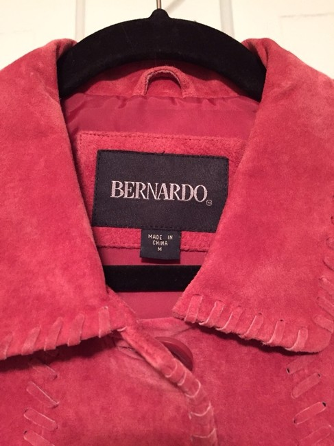 Bernardo Leather Machine Washable Dark Rose Jacket