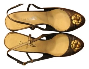 Chanel Bronze Pumps