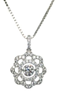 Other 18K White Gold CZ Pendant