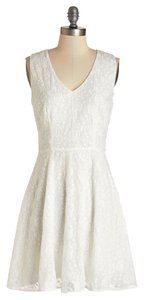 BB Dakota short dress White Floral Embroidery Mod Cloth Lace on Tradesy