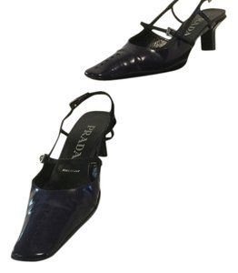 Prada Slingbacks Italian Black patent leather Pumps