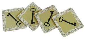 Other Set of 4 - Antique Key Cork Coasters