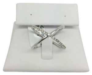 14K White Gold Natural X Diamond Ring