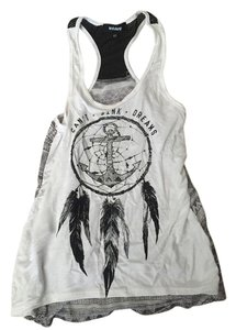 Zumiez Dreamcatcher Top White black gray