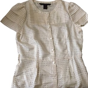 Marc by Marc Jacobs Top Ivory with multi ploka dots