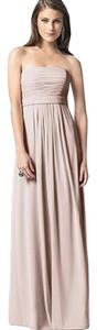 Dessy Full Length Strapless Chiffon Dress