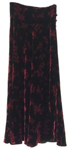 Ann Taylor Maxi Skirt Black and Red