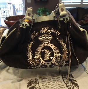Juicy Couture Satchel in Black With Blue