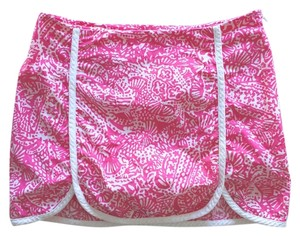 Lilly Pulitzer Mini Skirt Hot pink&white