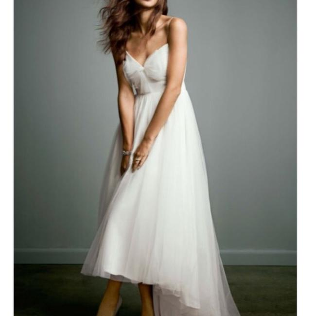 Item - Soft White Polyester Chiffon Tulle Destination Wedding Dress Size 6 (S)