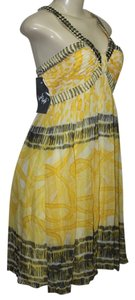 Nine West short dress Yellow on Tradesy