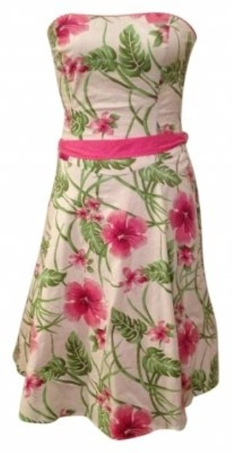 Preload https://item4.tradesy.com/images/ruby-rox-pinkgreenwhite-floral-strapless-knee-length-cocktail-dress-size-6-s-138568-0-0.jpg?width=400&height=650