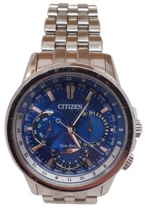 Citizen Citizen Eco-drive Mens Calendrier World Timer Blue Dial Watch Bu2021-51l