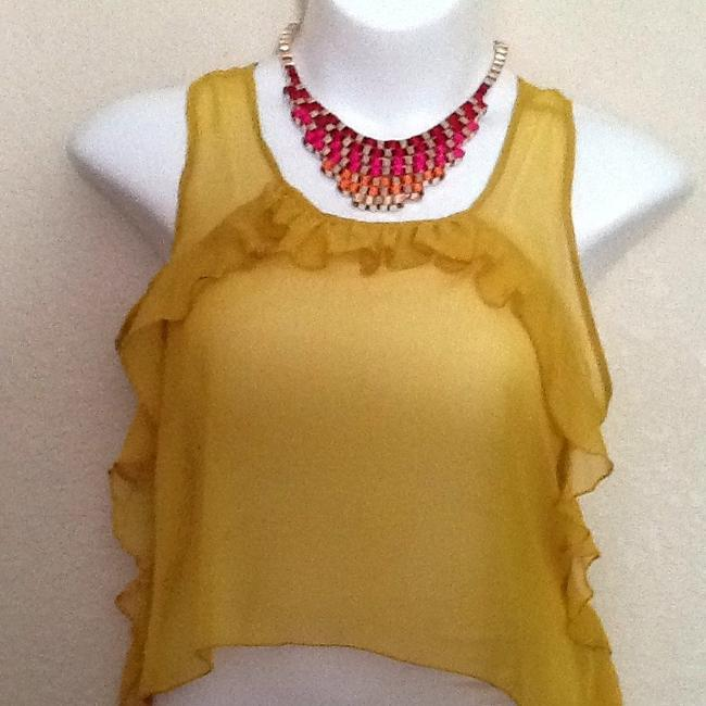 Charlotte Russe Top Sunshine Gold