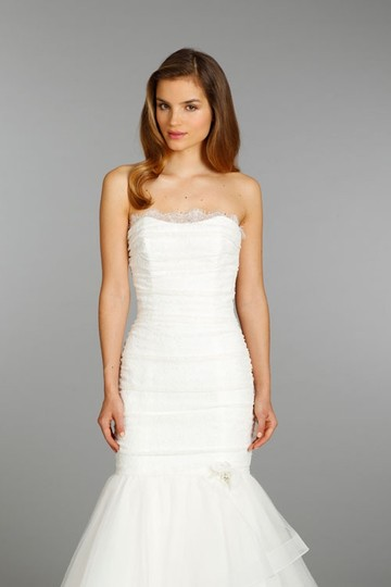 Alvina Valenta Ivory Lace Tulle and Horsehair Av9356 Dress Size 8 (M)
