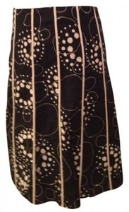 Martha B Skirt Black and tan