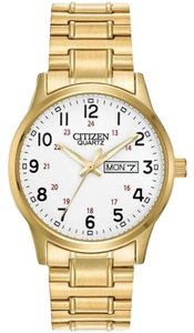 Citizen Citizen Bf0612-95a Mens Easy Reader Gold Tone Expansion Band Watch