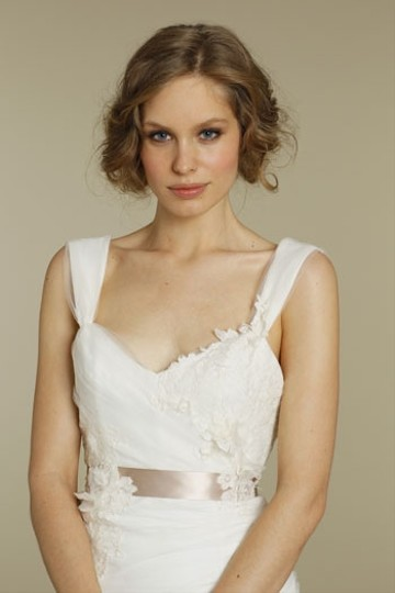 Blush by Hayley Paige Ivory Dress/ Sash Tulle and Lace 1205- Blossom Wedding Size 4 (S)