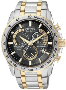 Citizen Citizen At4004-52e Mens Eco- Drive Two Tone Perpetual Calendar Atomic Black