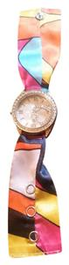 Pink and multi color watch
