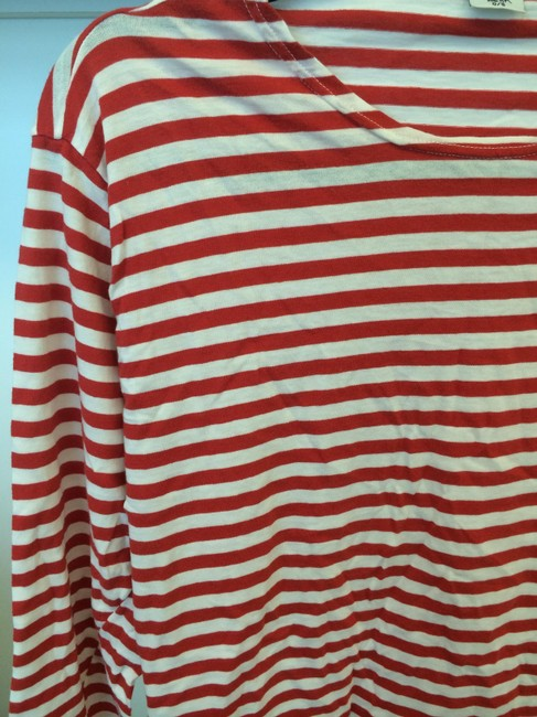Christina Lehr T Shirt Red and White