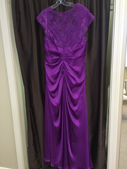 Fig Couture Satin Face Chiffon K148061 Feminine Bridesmaid/Mob Dress Size 16 (XL, Plus 0x)