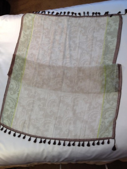 Other Tasseled Muslin Wrap/Scarf/ Pareo - [ Roxanne Anjou Closet ]