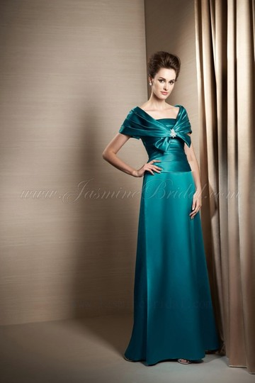 Jasmine Lagoon Marquis Satin J155021 Formal Dress Size 14 (L)