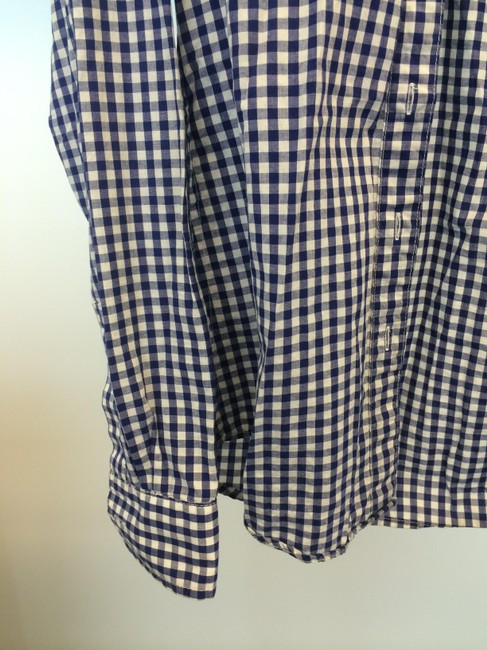 Steven Alan Button Down Shirt Blue and White
