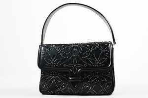 ALAÏA Alaia Leather Studded Satchel in Black