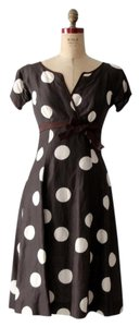 Ali Rahimi for Mon Atelier Couture Polka Dot Silk Dress