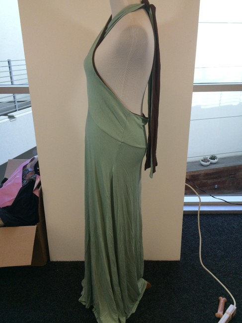 Brown and Mint Green Maxi Dress by Other