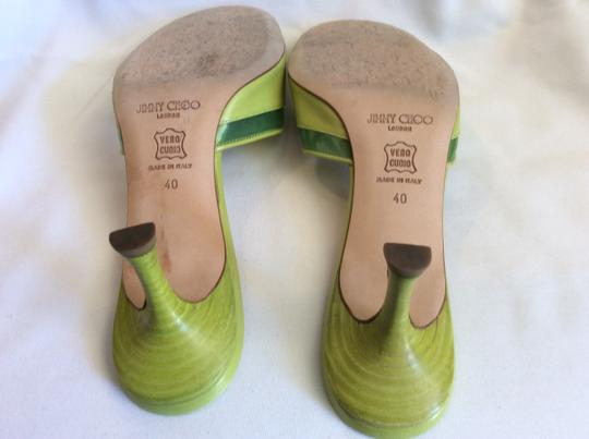 Jimmy Choo Resort Sandals Bow Lime Green Mules Image 3