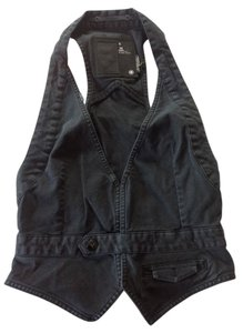 G-Star RAW Summer Cool Festival Black Halter Top