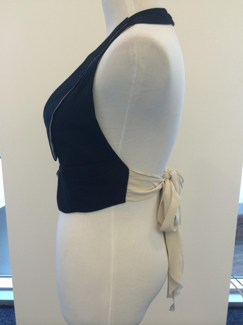 Rosetti Black and Beige Halter Top