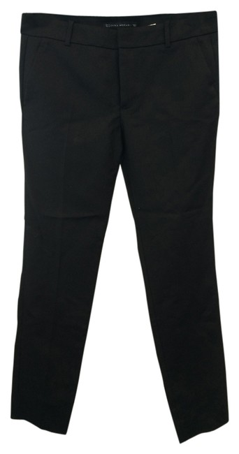Zara Straight Pants Black