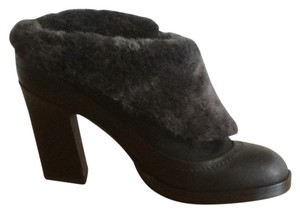 Rag & Bone Fur Shearling Asymmetric Fold Black Boots