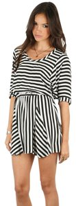 Mason short dress BLACK Silk Mini Striped Shift on Tradesy